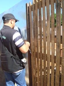 Fiscais Ambientais da SEMURB lacram canteiro de obras que descumpria embargo